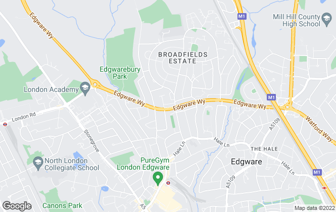 Map for Bladon Sears, Edgware