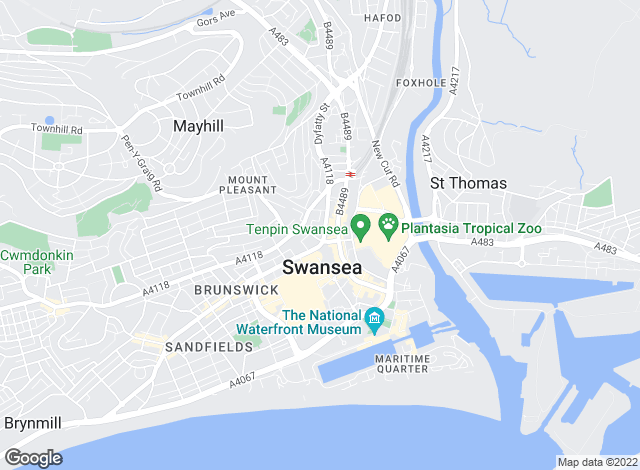 Map for We Will Homes, Swansea
