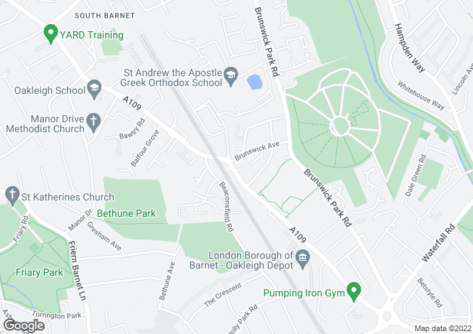 Map for Southview, Oklegh Road South, N11