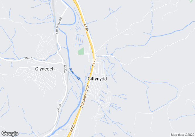 Map for Cwrt Bethal, William Street, Pontypridd