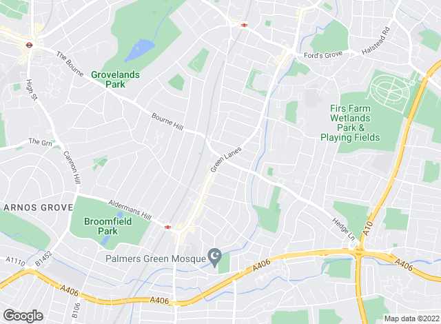 Map for Connect Lettings, Palmers Green