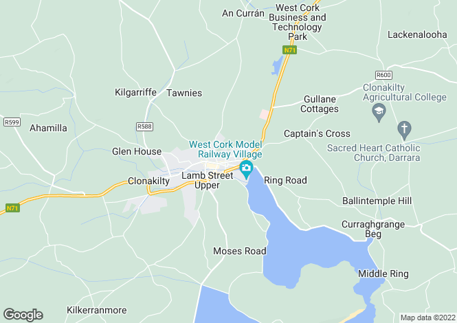 Map for Clonakilty, Cork