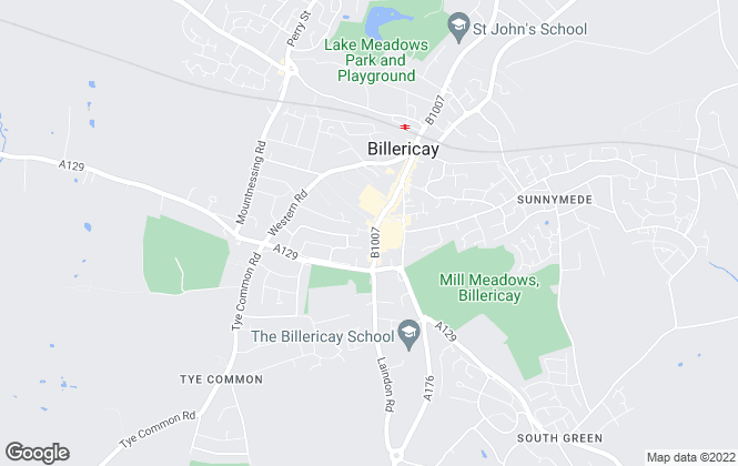 Map for Beresfords, at Billericay