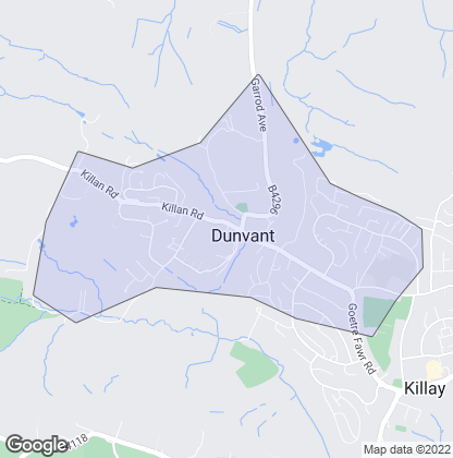 Map of property in Dunvant