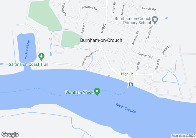 Map for REGENTS COURT, BURNHAM ON CROUCH