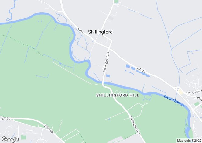 Map for The Mews, Shillingford