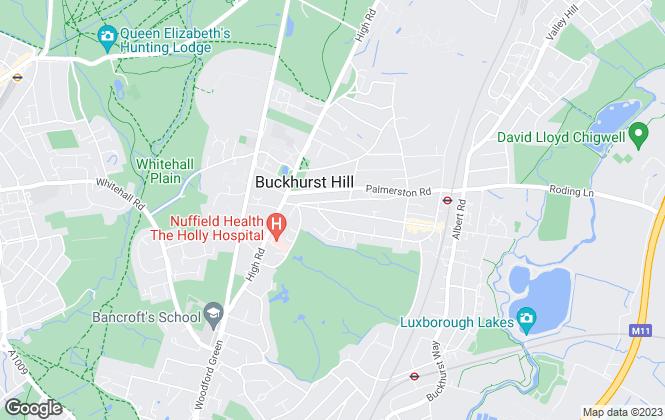 Map for Knightons Estate Agents, Buckhurst Hill