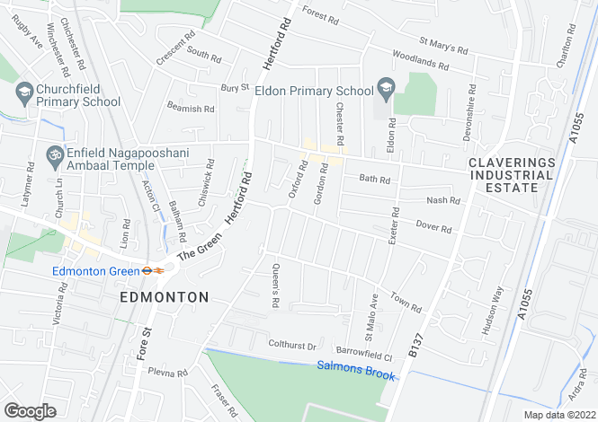 Map for Monmouth Road  Edmonton