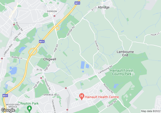 Map for Pudding Lane, Chigwell, Essex, IG7