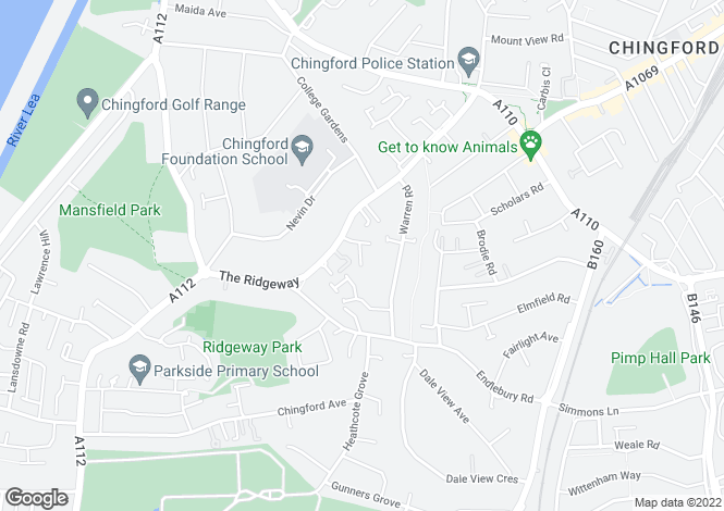 Map for Bosgrove, North Chingford