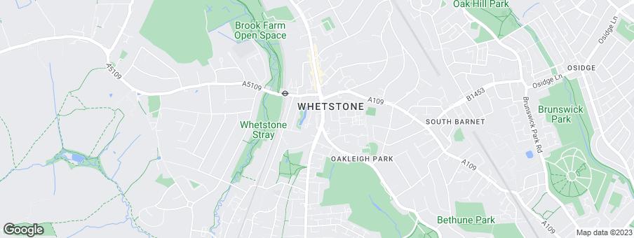 Map for Crest Nicholson Chiltern