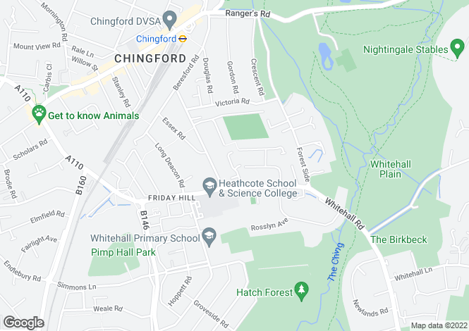 Map for Westminster Gardens, North Chingford, London