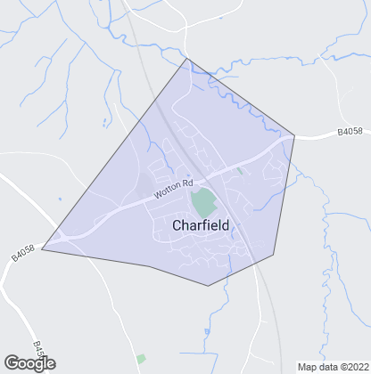 Map of property in Charfield
