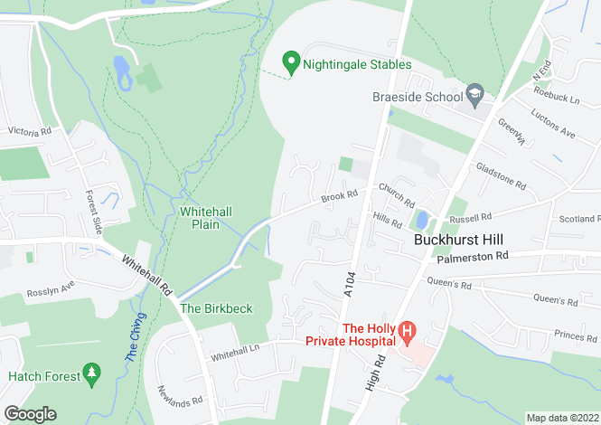 Map for Tillingbourne at Montague Place, Brook Road