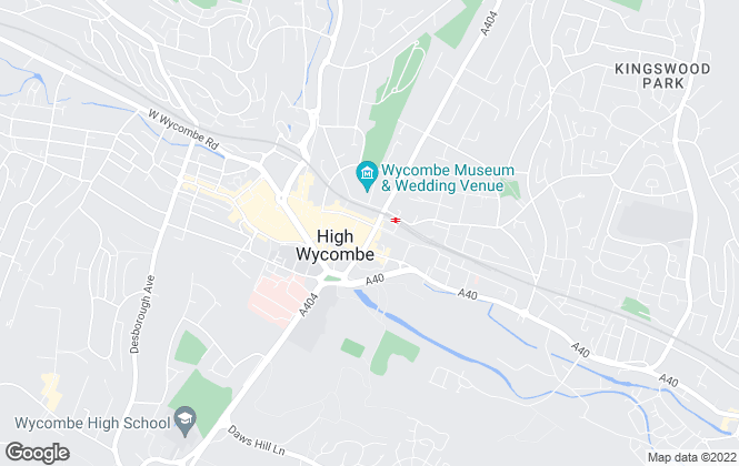 Map for Chiltern Hills, High Wycombe