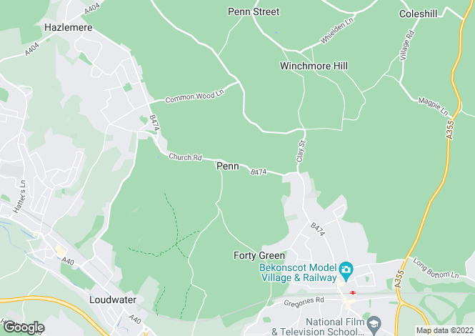 Map for Witheridge Lane, Penn, Buckinghamshire, HP10