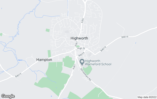 Map for Samuel Miles, Highworth