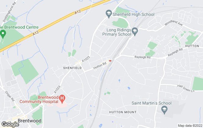Map for WN Properties, Shenfield
