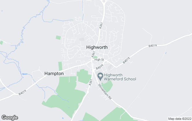 Map for Hanley's, Highworth