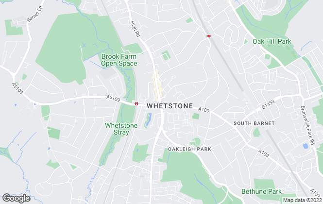 Map for Martyn Gerrard, Whetstone
