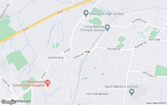 Map for Hilbery Chaplin Residential, Shenfield