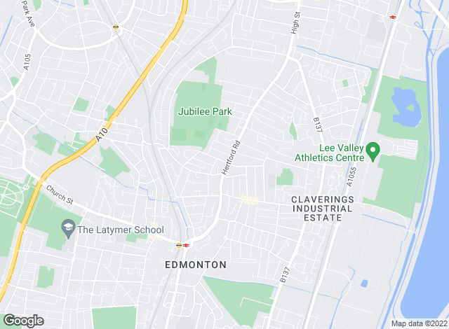 Map for Ellis and Co, Edmonton/Enfield