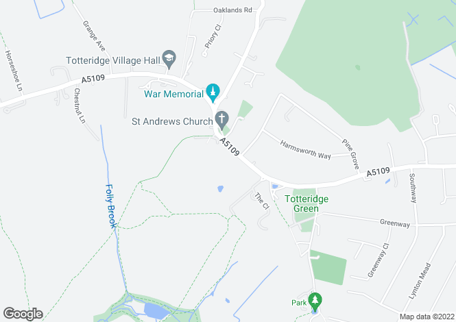 Map for Totteridge Village, Totteridge