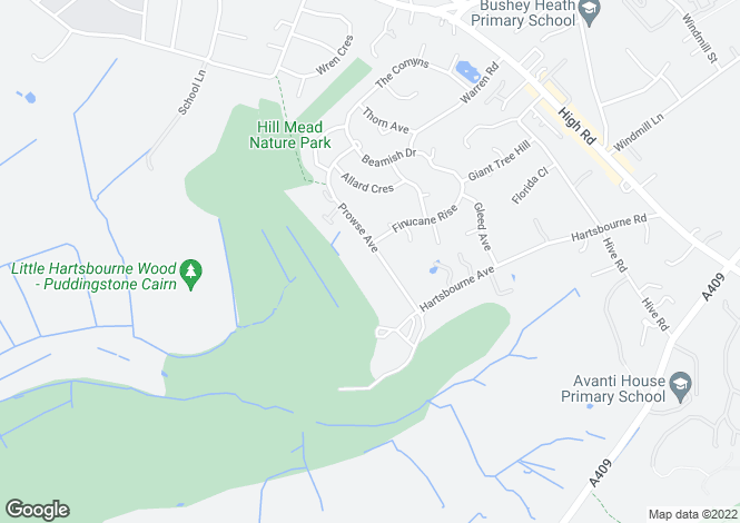 Map for `Grove House`, Prowse Avenue, Bushey Heath, WD23 1JS