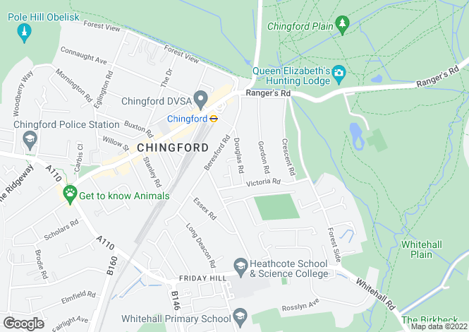 Map for Douglas Road, North Chingford, London