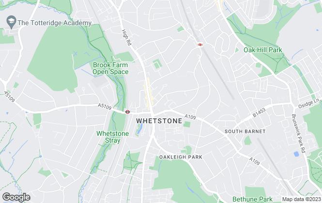 Map for Lettings of London Ltd, Whetstone