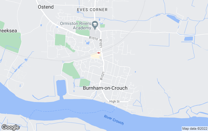 Map for Bairstow Eves, Burnham on Crouch