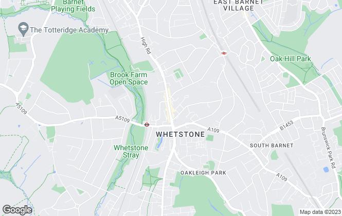 Map for Simon Clarke, Whetstone