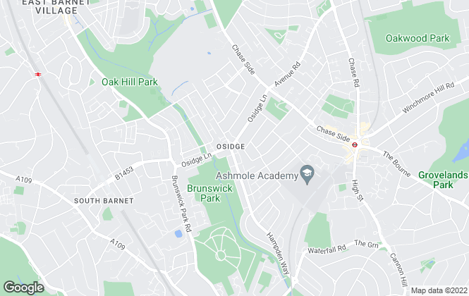 Map for NEWAY ESTATE AGENTS, Hampden Square