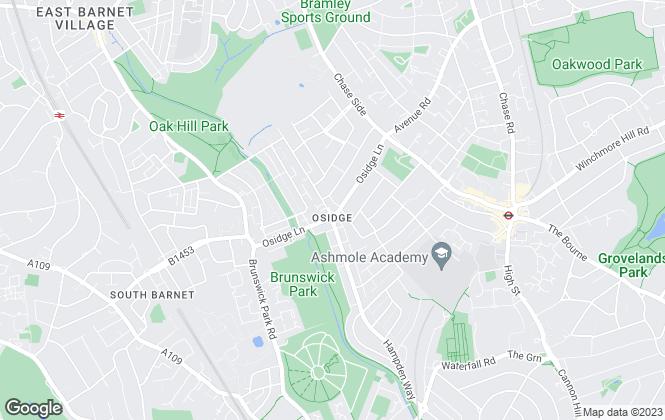 Map for Unique Estates Property Services, Southgate