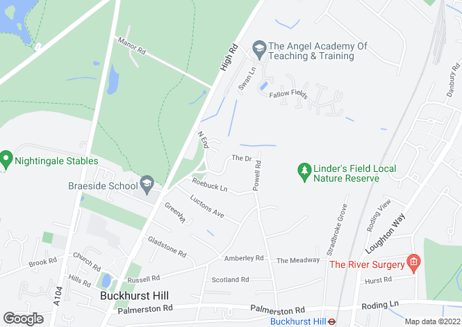 Map for The Drive, Buckhurst Hill