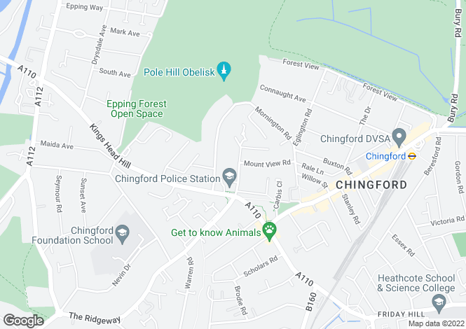 Map for Chingford