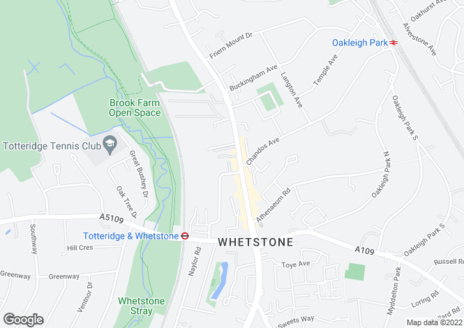 Map for High Road, Whetstone