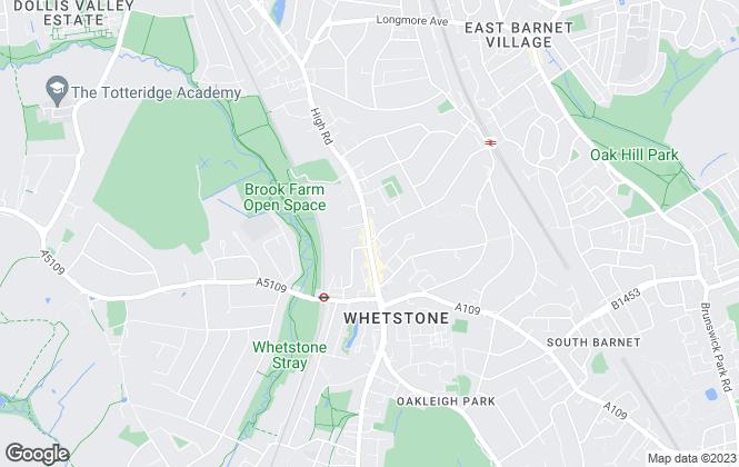 Map for Hamptons Sales, Totteridge & Whetstone