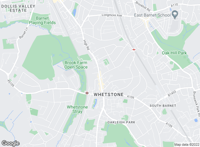 Map for Hetheringtons, Whetstone