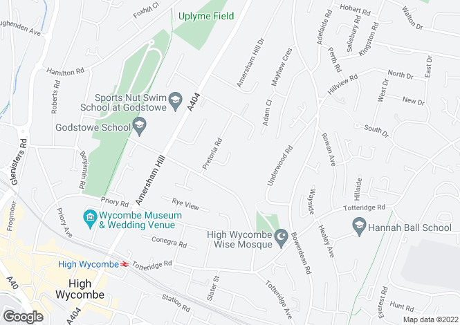 Map for Wentworth Close, High Wycombe, Buckinghamshire