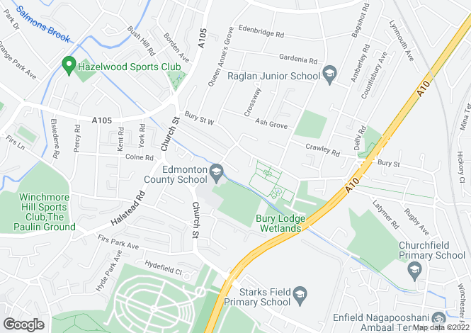 Map for Ramscroft Close, Edmonton, Enfield