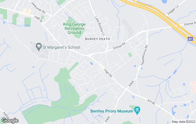 Map for John Whiteman, Bushey Heath Lettings, Bushey Heath - Lettings
