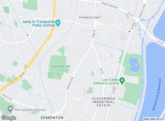 Map for Castles Estate Agents, Edmonton