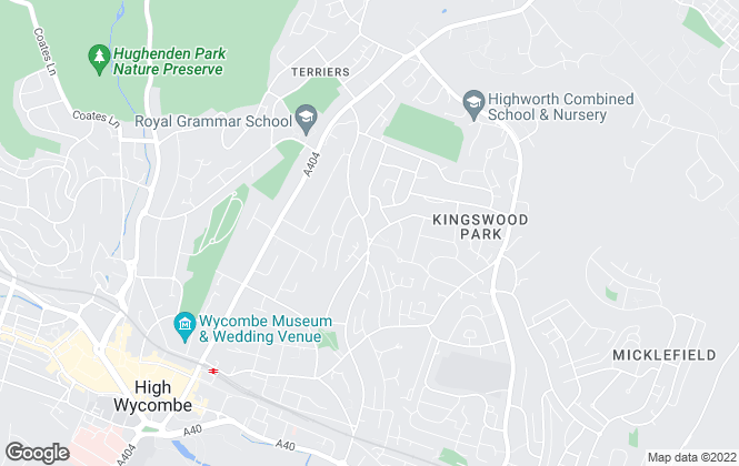 Map for Wycombe Letting, High Wycombe