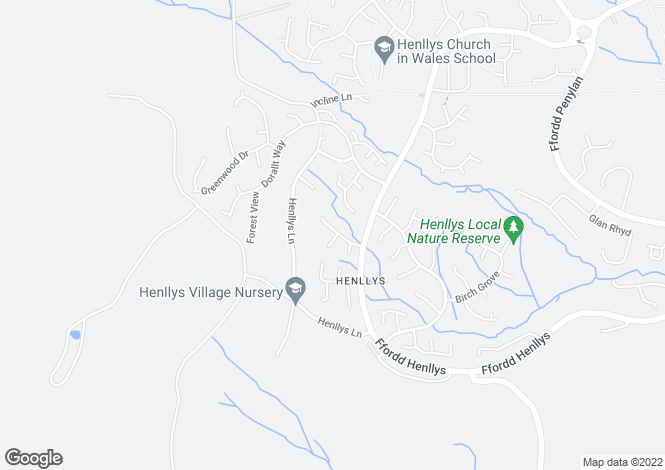 Map for Sycamore Court, Henllys, Cwmbran, Torfaen