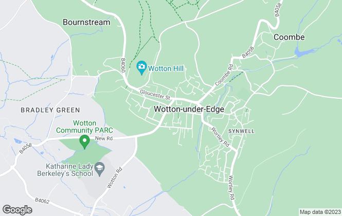 Map for Milburys, Wotton Under Edge