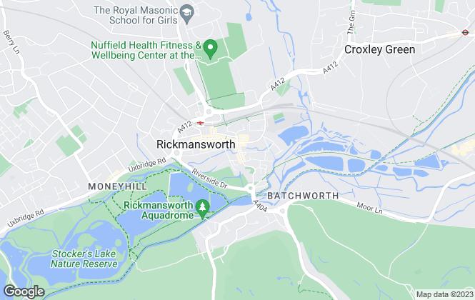 Map for Savills, Rickmansworth