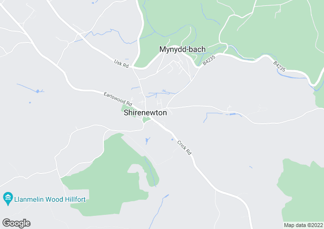 Map for Clearview, Shirenewton,