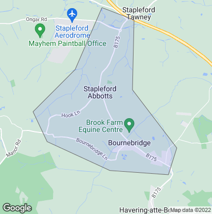 Map of property in Stapleford Abbotts