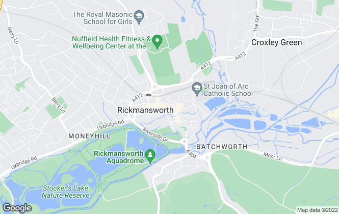 Map for Hetheringtons, Rickmansworth